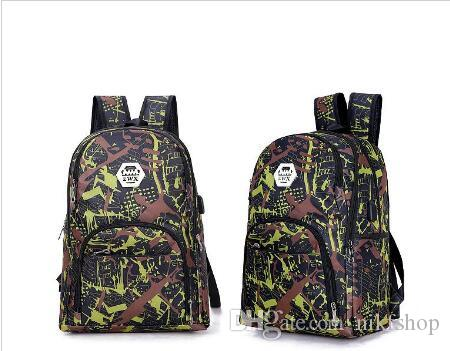 Best outdoor camouflage travel backpack computer bag Oxford Brake chain middle school student bag many colors