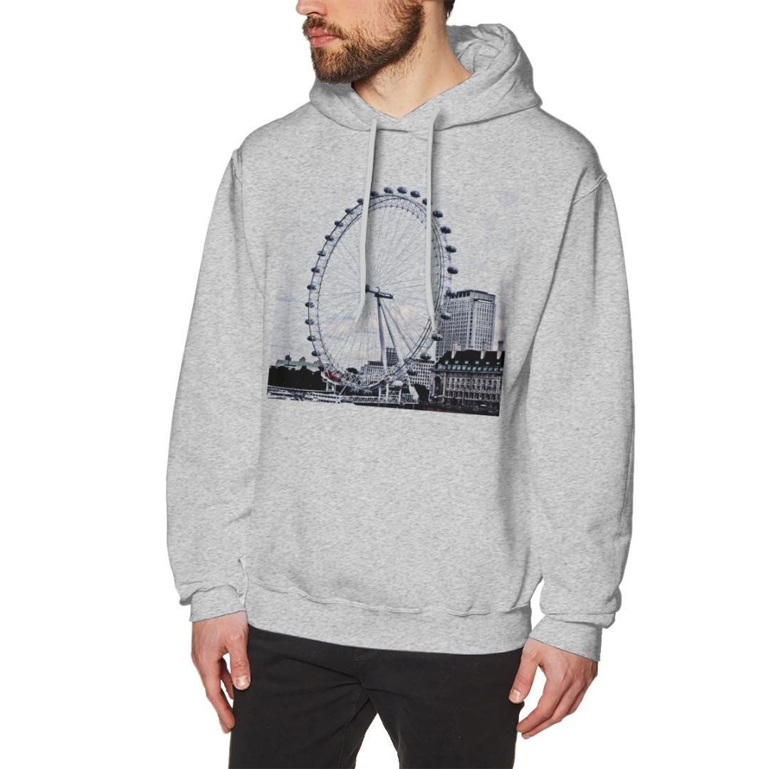 NOISYDESIGNS 2019 Winter Fashion Men's Hoodies London Eye Printed Male Casual Hoodies Sweatshirts Boys Cool Tops Sudadera Hombre