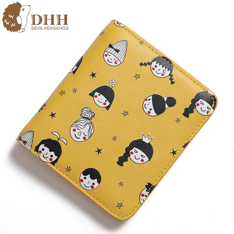 DHH 2019 New Arrival Short Girl Purse Korean Students Are Small and Fresh Ladies Cute Wallet