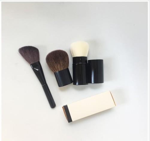 CC Çekilebilir Kabuki Fırça / Petit Pinceau Kabuki / Açılı Şekillendirici Fırça - Kalite Allık / Pudra Fondöten Makyaj harmanlayan Aracı