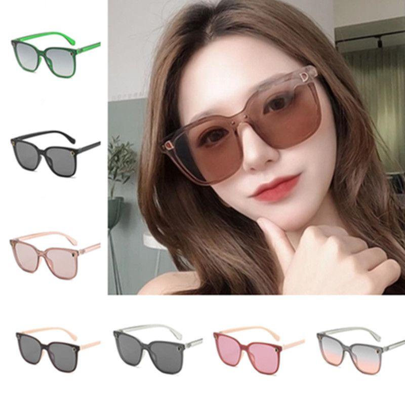Moda Mulheres Óculos de Sol oversize Quadro Sol óculos All-Match Óculos Anti-UV Espetáculos Quadrado Óculos Eyeglasses Adumbral Eyewear A ++
