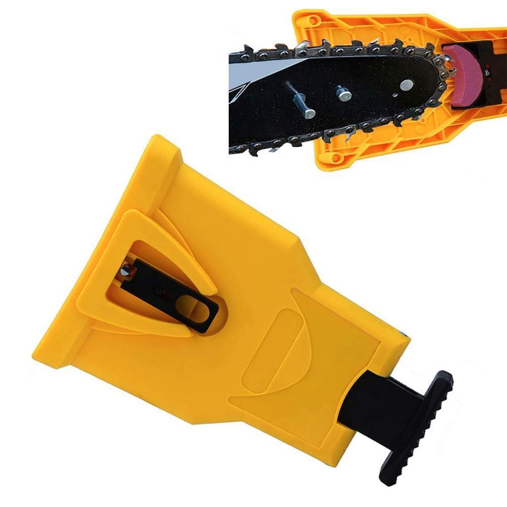 유용한 톱 치아 깎이 뚜렷하게 휴대용 내구성 전원 샤프 바 마운트 톱 톱 체인 깎이 홈 도구 시스템