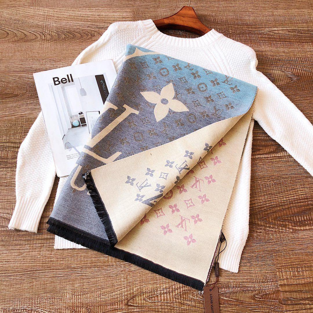 lusso della moda all'ingrosso sciarpa echarpe homme lettera di stile di disegno autunno e scialle sciarpa inverno spesso uomini e donne Cashmere sciarpa