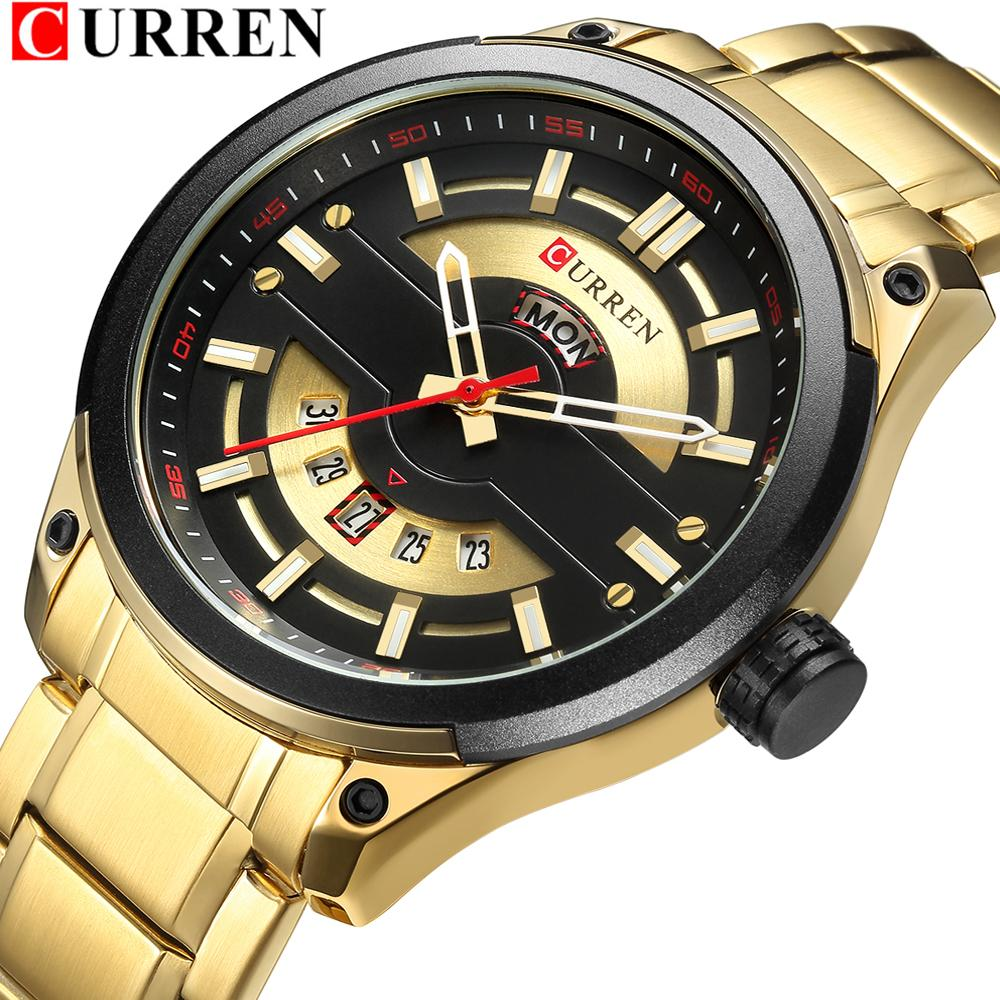 Relogio Masculino Curren Männer Uhren Luxus Top Marke Männer Mode Casual Steel Watch Military Quarz Armbanduhr Reloj Hombres