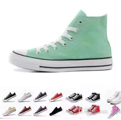 Hot Sale-Nouvelle star bas Chaussures montantes Casual mandrin de stars du sport de style classique en toile Sneakers chaussures conve Hommes Femmes Chaussures de toile de cadeau de Noël