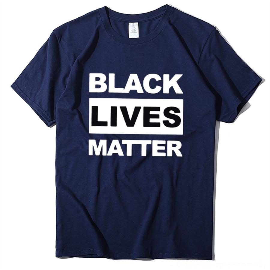 cXUgn Eu não posso respirar Camiseta Tops T Justiça Slogan camisetas pretas Pessoas para Mora Preto Matéria Suporte Tshirts Melanina Unisex Y200603