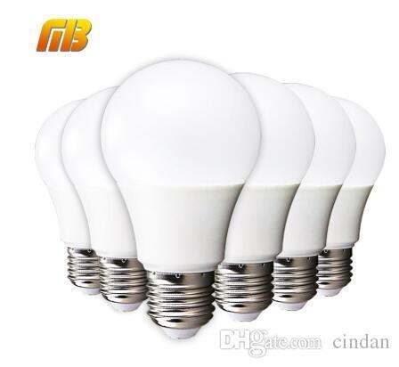 LED 전구 E27 E14 3W 5W 7W 9W 12W 15W 스마트 IC LED 빛 콜드 화이트 화이트 Lampada 앰플 Bombilla 램프 조명을 따뜻하게