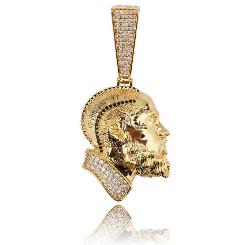 Yeni Nipsey kolye kolye ile Halat Zincir buzlu Out Kübik Zirkon Parlayan Erkek Kalça Hop JewelryNew N198 Bling