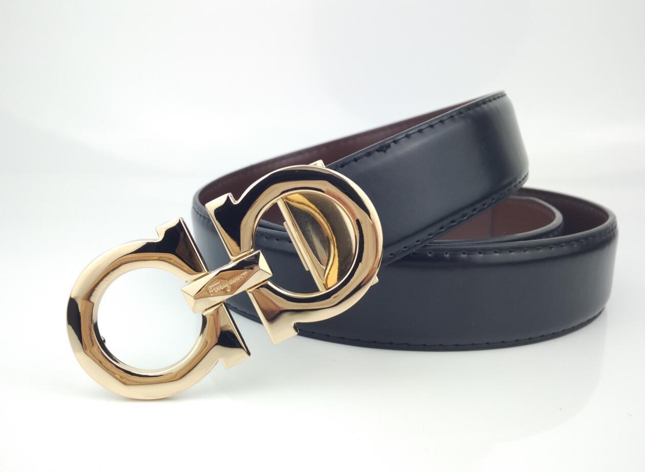 2020 hommes ceinture en cuir de ceinture de luxe design de ceinture homme d'affaires 3,4 CM 3 types de bouton de couleur