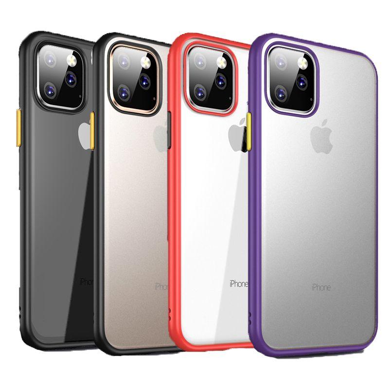 Para el caso de Iphone 11 El más nuevo Clear Hybrid Soft TPU Hard PC Protection Case para Iphone 11 Pro Max