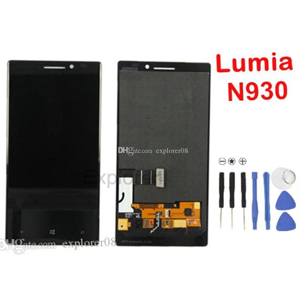 Test bestanden LCD-Anzeigen-Screen-Analog-Digital wandler mit Rahmen für Nokia Lumia 930 vs N930 LCD assembly + gehärtetes Glas + Tools 1PCS