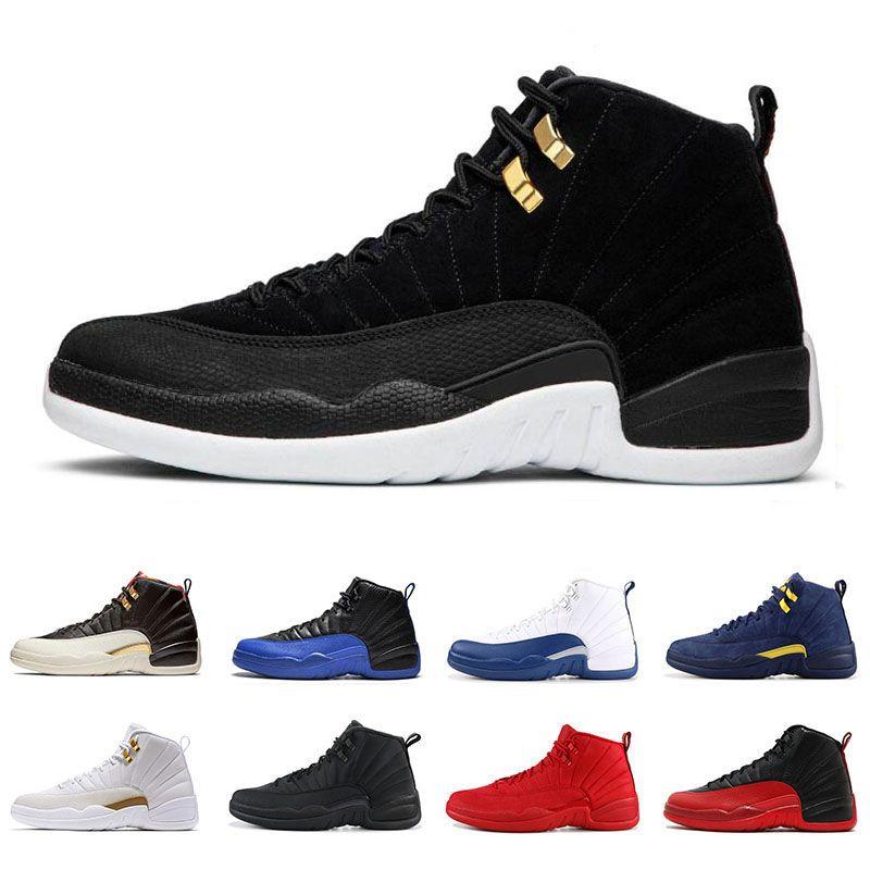 finest selection ever popular new photos Großhandel Nike Air Jordan Retro 12 12s Basketballschuhe Für Herren Game  Royal Triple Schwarz Gym Rot Grippespiel GAMMA BLUE Die Herren Sport  Sneakers ...
