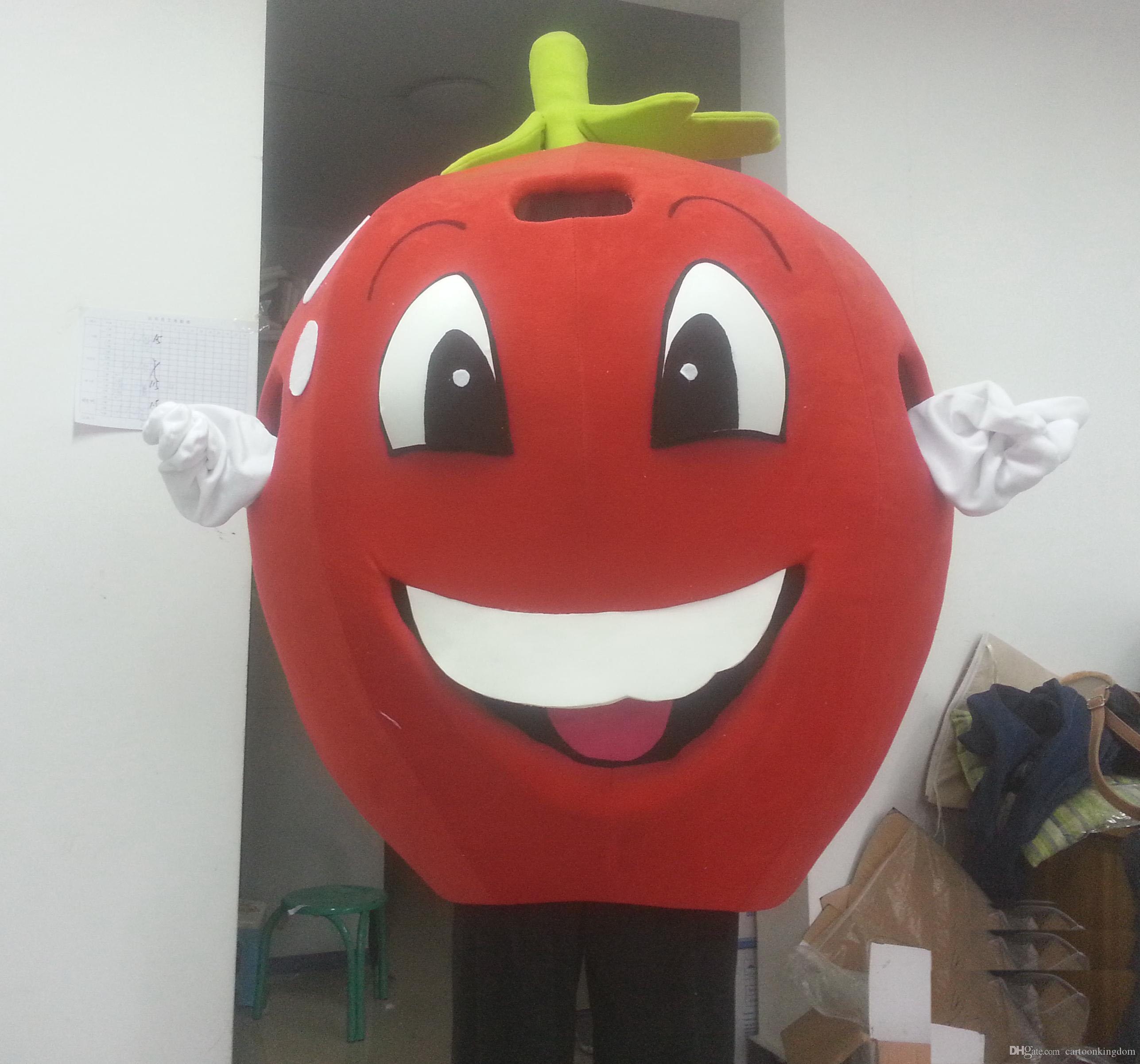 2019 Fabrika doğrudan satış Kırmızı elma Maskot Kostüm meyve Karikatür Giyim reklam