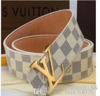 9G0G hombres de la correa Cinturones de diseño Mujeres Cinturón Cinturones de diseño de lujo correas de cuero del negocio de la serpiente puro grande del color oro de la hebilla del cinturón de envío de regalos L0V
