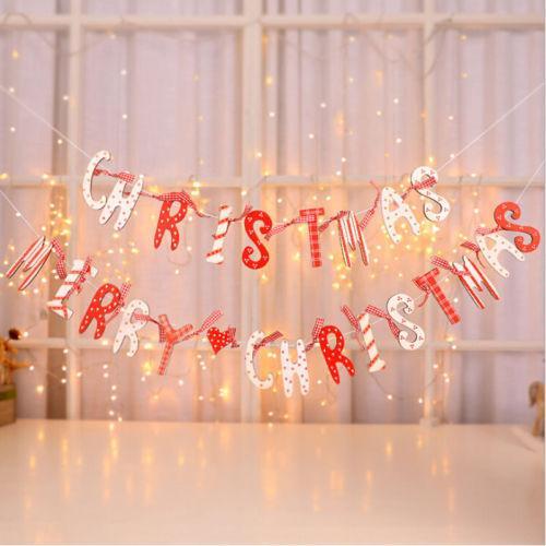 عيد ميلاد سعيد الرايات راية جارلاند المعلقة متجر الديكور حزب عيد الميلاد العلم