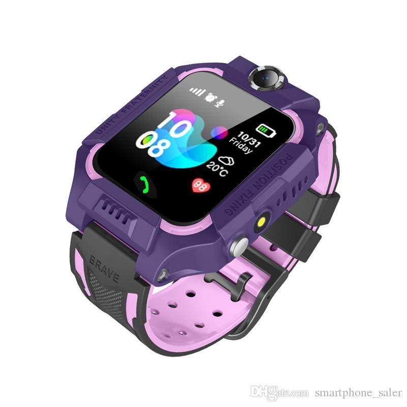 Estudante segurança do bebê Q19 Crianças Crianças relógio inteligente LBS Posicionamento lacation SOS inteligente Pulseira Com Câmera Lanterna inteligente Relógio de pulso Para