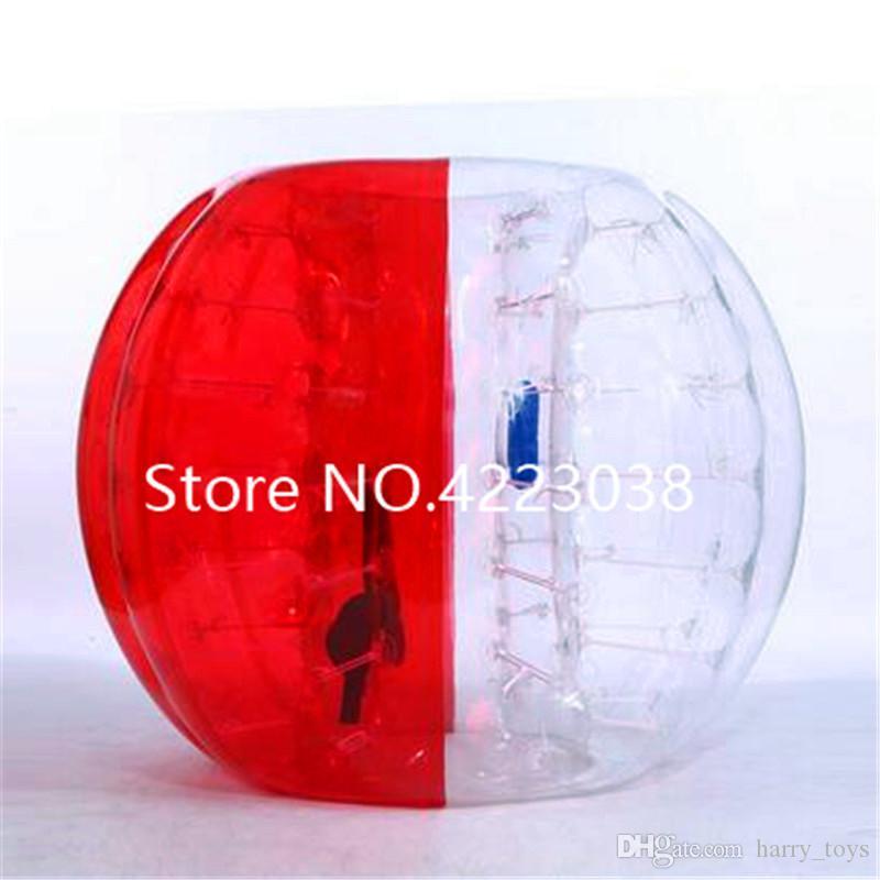 Бесплатная доставка пузырь футбольный мяч диаметром 5 футов (1,5 м) человека хомяк мяч толщиной 8 мм ПВХ прозрачный надувной бампер мяч Zorb шары