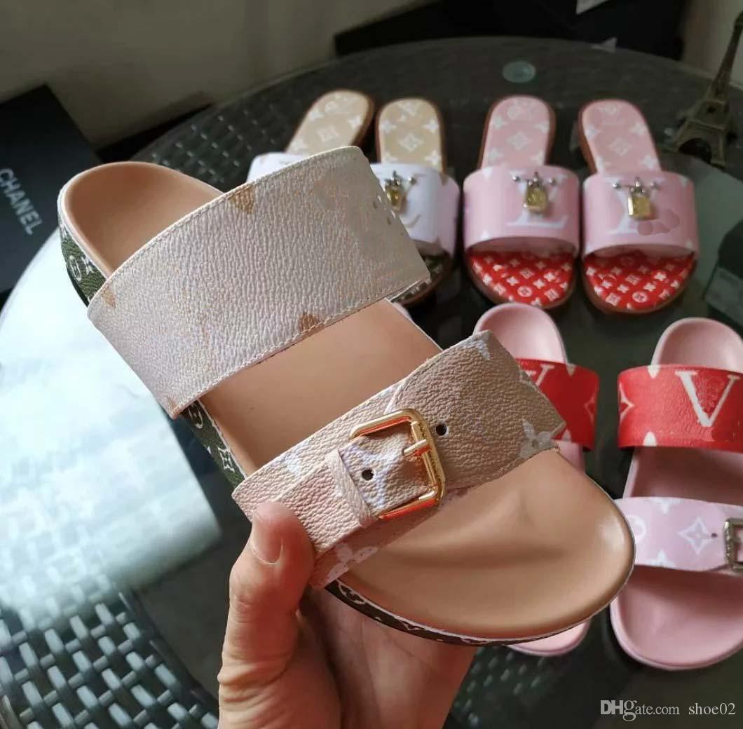 -Alta qualità dei sandali dei pistoni Slides Pantofole Sandali Huaraches Infradito Mocassini Scuffs della scarpa da tennis dei pattini casuali per la donna Trasporto libero