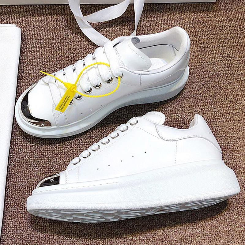 degli uomini del progettista di moda di lusso e scarpe da donna, scarpe da ginnastica sotto-scarpe casual in pelle, calzature sportive suola spessa con la scatola originale QWD