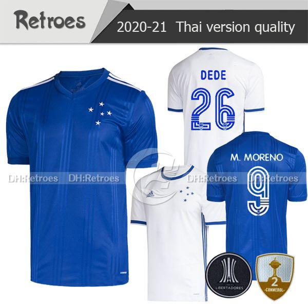 20-21 كروزيرو كرة القدم Jerseys FRED ROBINHO THIAGO NEVES SASSA 2020 LUCAS ROMERO Camisas de Cruzeiro