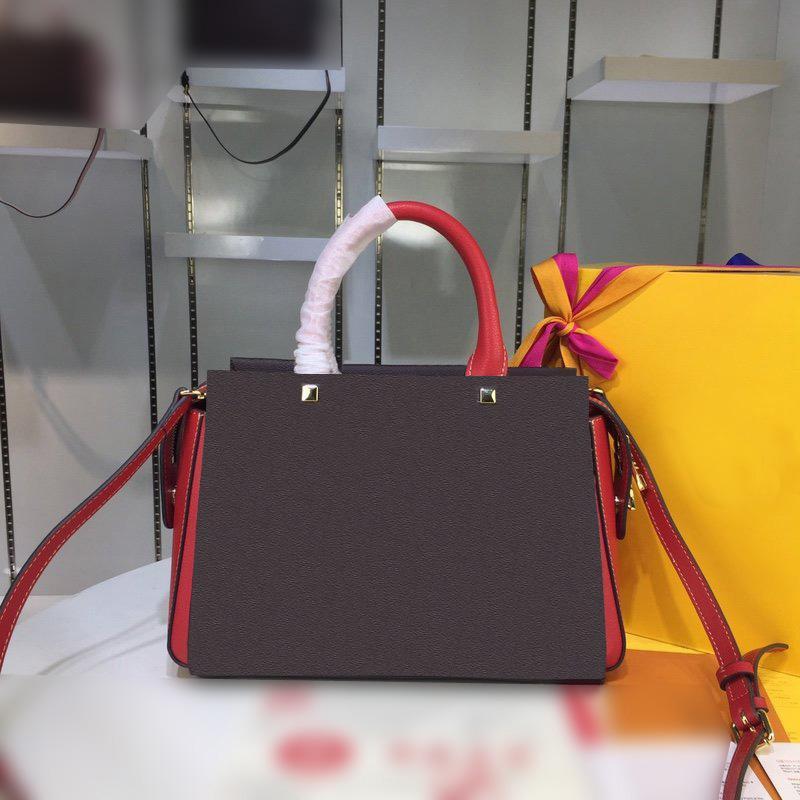 High quality new four colorss hot sales Fashion brand luxury shoulder bag designer handbags monogram calfskin bag free shipping