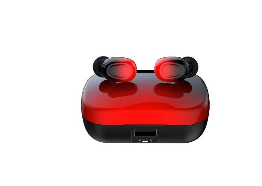 L21 TWS sans fil Bluetooth écouteurs 5,0 Bouton de commande Oreillettes avec micro réducteur de bruit 350mAh Banque d'alimentation étanche casque # OU324