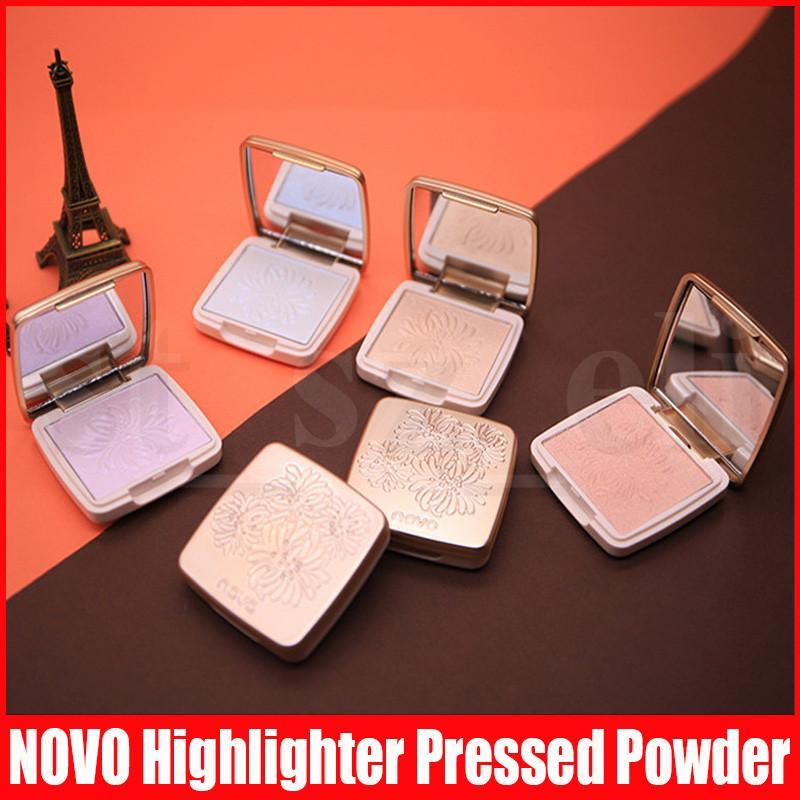 NOVO Bronzer Highlighter Powder 6 Colors Face Iluminator Makeup Professional Glitter Palette Make Up Glowing Brighten Shimmer Cosmetic