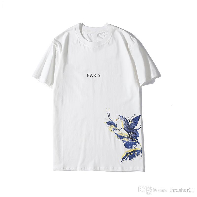 Big Feather and Birds white short sleeve Top quality t shirt for Men/'s