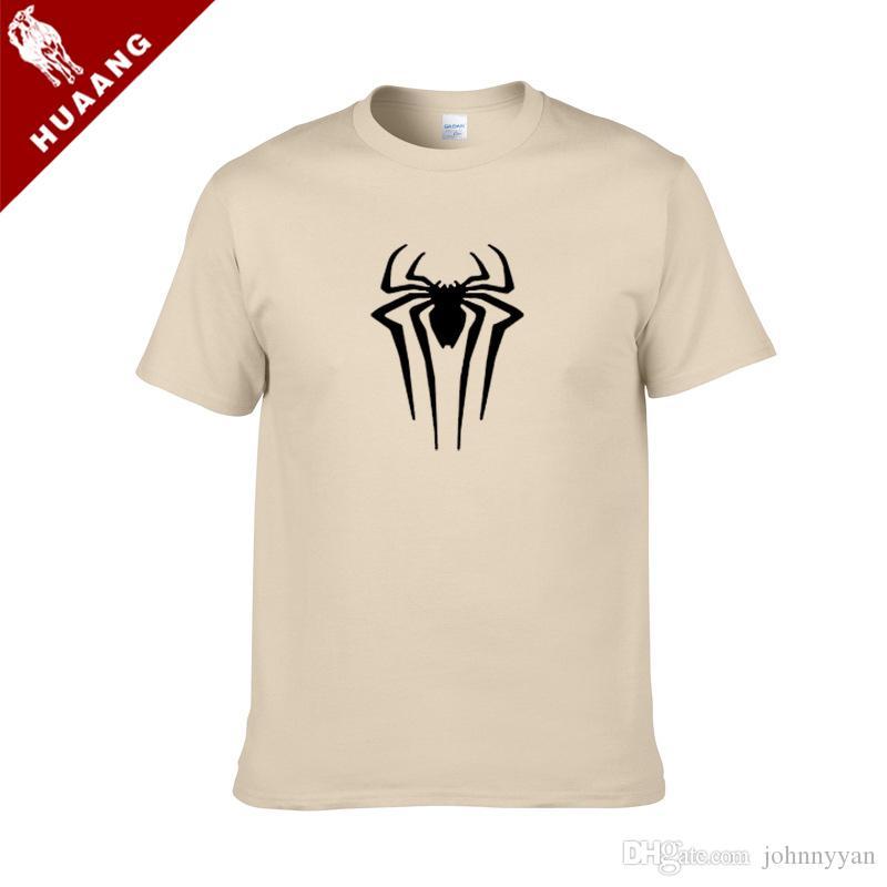 Лето новое прибытие мода Дональд EvilSpiderman печатных футболка лето мужская повседневная круглый вырез с коротким рукавом футболки топы 0135B