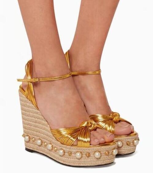 Femme Haut Compensé Sandales plateforme clous cloutées esperdrilles Chaussures Taille