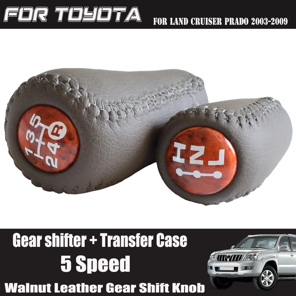 5 velocidad de la nuez por Prado LC120 Land Cruiser Prado 03-09 coche engranaje de transmisión manual de engranajes de transferencia perilla del cambio de palillo de Palanca