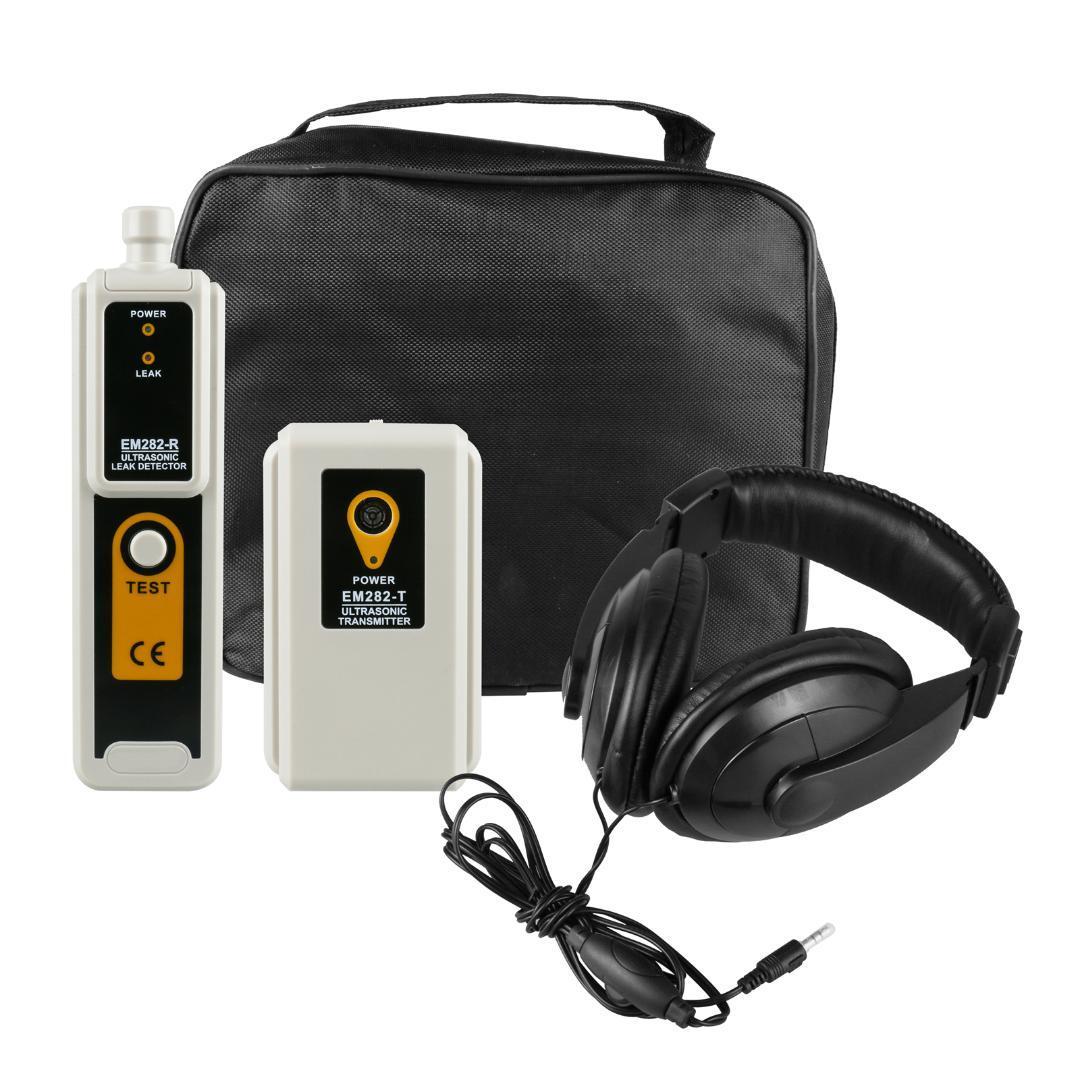 Transmisor detector de fugas de gas Detección ultrasónica de presión Indicación Vacío Sistema Localizador Detecta Aire Gas Diagnóstico Kit LED
