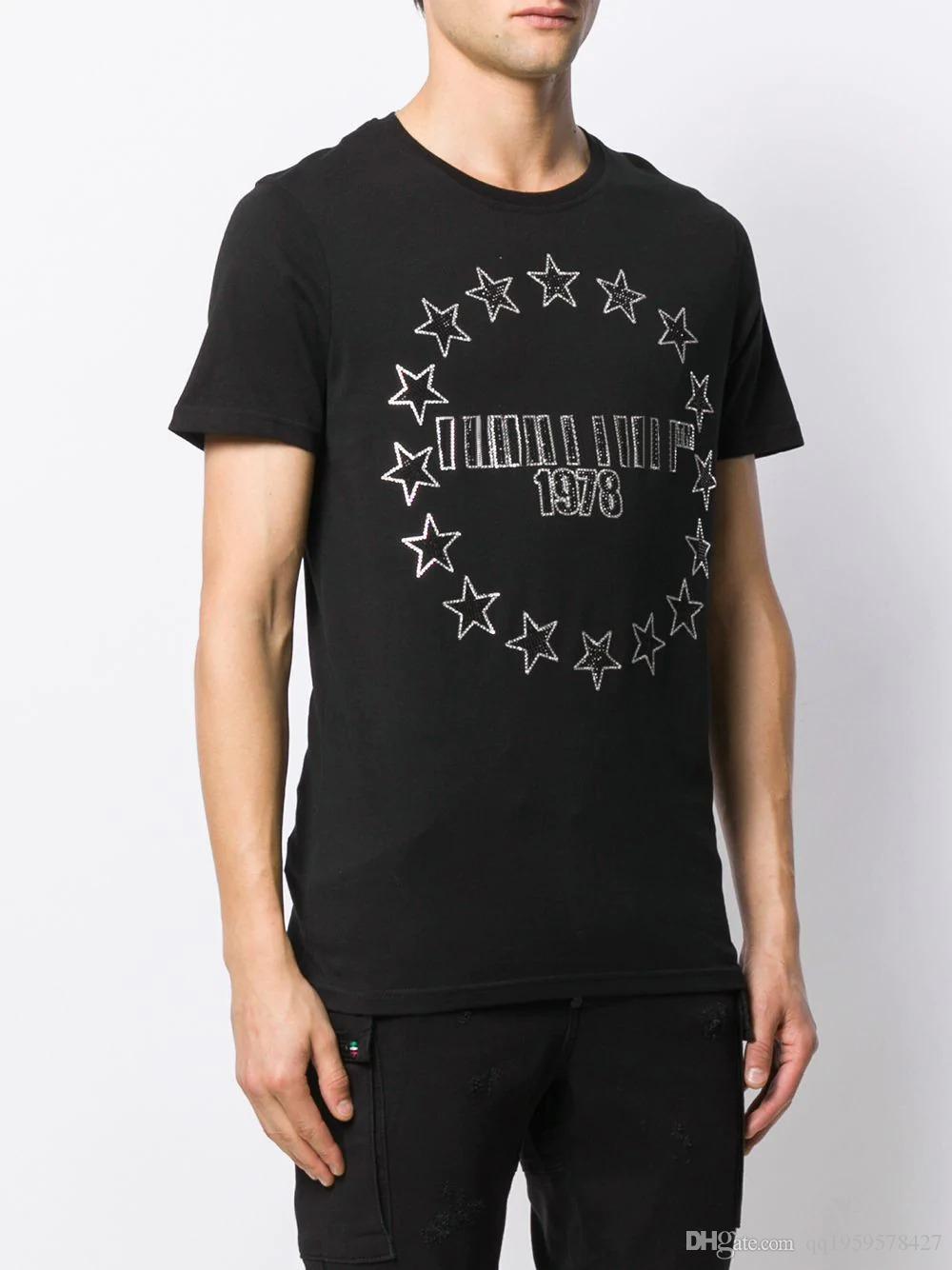 New Mens camisa Designer T de luxo de moda de Paris T-shirts Verão Mulheres Impresso padrão T-shirt masculino da qualidade superior 100% Algodão Top Tee KL1917