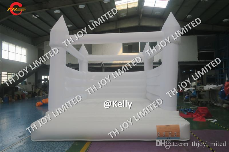 Customized высокого качества Быстрая доставка ПВХ 0,55 мм Материал Белый Надувной батут Свадьба Дети прыжки Надувной замок Свадьба на продажу