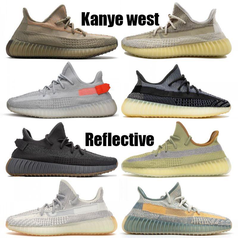 Yeni Yansıtıcı Kanye batı ABEZ cüruf Keten Yeshaya Siyah Statik Basketbol ayakkabıları Toprak Asriel'den İsrafil Erkekler Kadınlar spor ayakkabısı koşu ayakkabıları