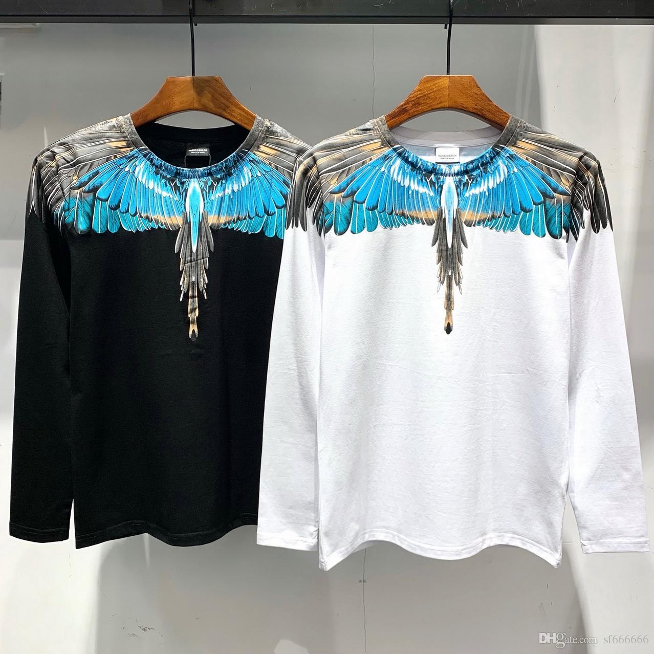 entrega libre de marcas europeas y americanas de camisetas largas de alta calidad, en el verano 2019, Europa y América Longsleeved tshir M174