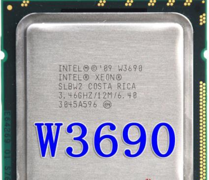 Intel Xeon W3690 w3690 CPU processor /3.46GHz /LGA1366/12MB L3 Cache/Six-Core/ server CPU Free Shipping, 100% work