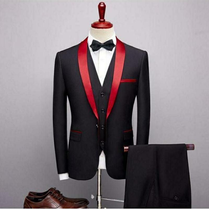 Nuovo di stile da One Button Slim Fit Grigio Chiaro smoking dello sposo fessura del lato Groomsmen uomini che Wedding / Cena Suits (Jacket + Pants + Tie + Vest)