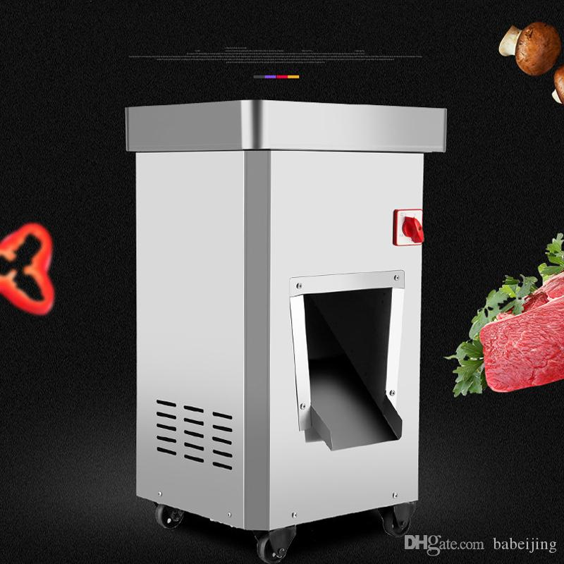 300 kg / h machine de découpe trancheuse viande de trancheuse multi-fonction automatique groupe de couteau amovible machine coupe de viande