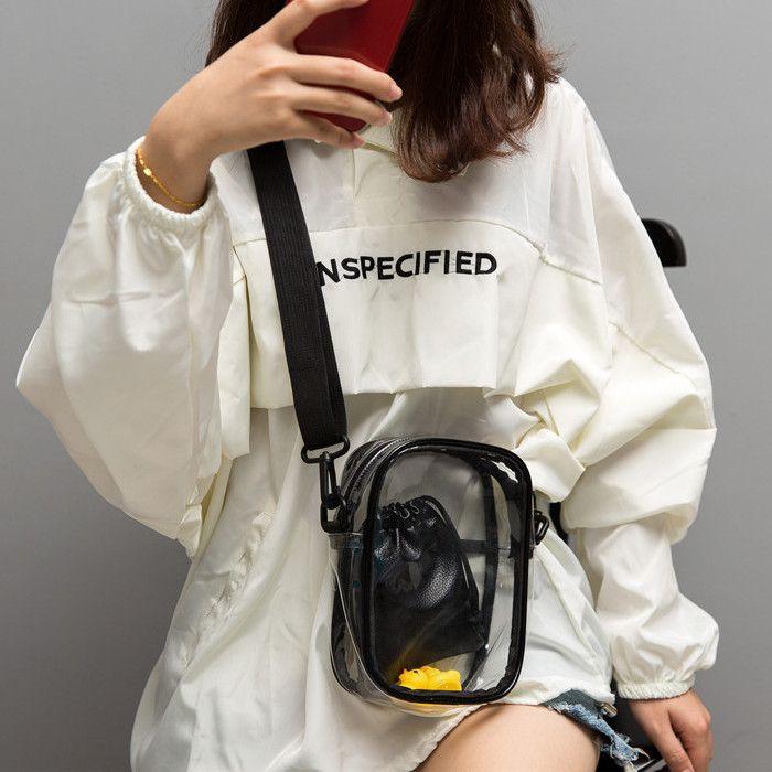 Transparente verão geléia Bolsas Bolsas For Women 2019 nova bolsa de mensageiro das senhoras Crossbody Bag Bolsa de prata móvel Wallet