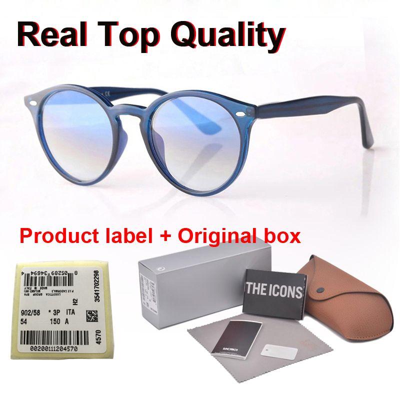 Yuvarlak güneş gözlüğü erkekler kadınlar Marka Tasarımcı tahta çerçeve Metal menteşe moda Retro güneş gözlüğü cam mercek gafas de sol vaka ve etiketle