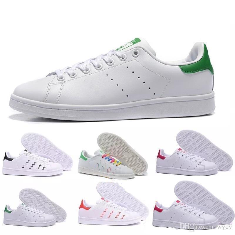 mulheres de alta qualidade homens novos sapatos stan moda smith sapatilhas ocasionais sapatas do esporte de couro apartamentos clássicos 2020 Tamanho 36-45