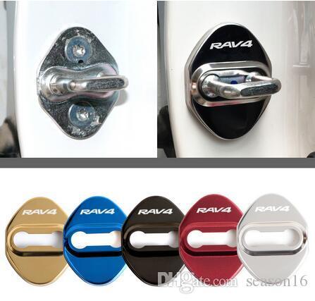 Couvertures de verrouillage de la porte de la voiture pour Toyota Rav4 Autocollant de protection contre voiture de protection et de décoration