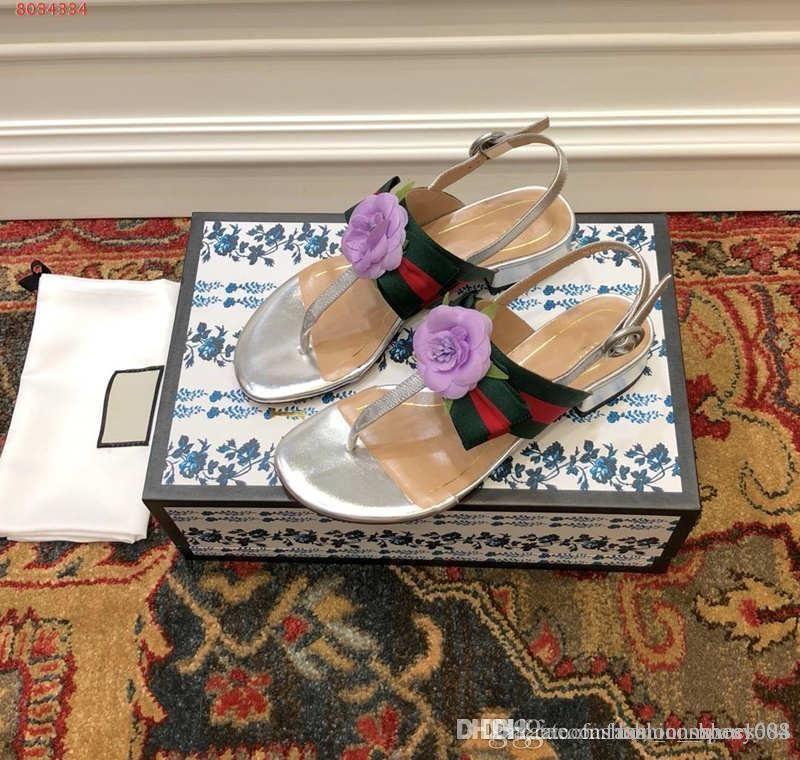 summer new fashion large size comfortable flip flops sandals camellia buckle elastic women shoes casual flat sandals