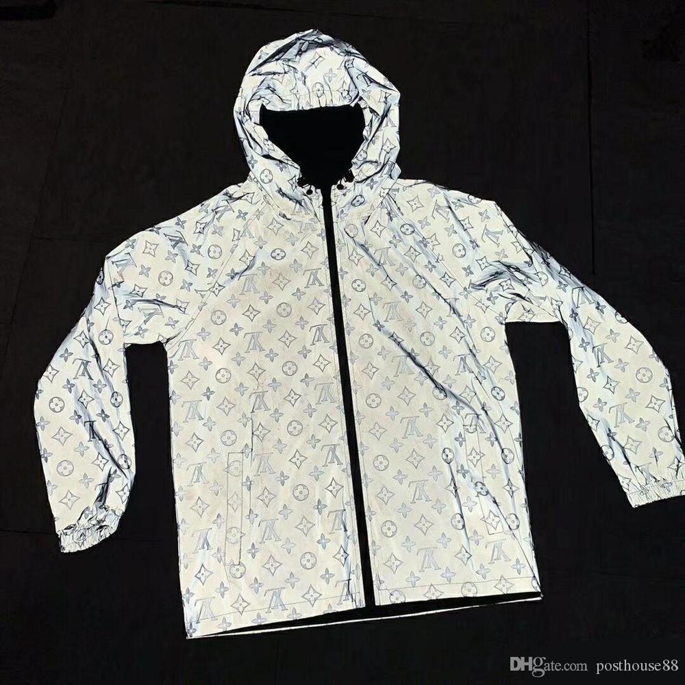Новый рисунок мужские дизайнерские куртки Солнцезащитный крем для мужчин и женщин тонкие пальто повседневная ветровка хип-хоп 3м светоотражающая куртка Классический бренд дизайнер