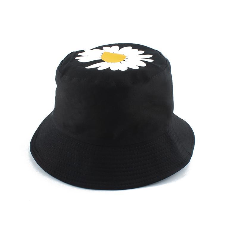 2020 Printemps Été Femmes Chapeaux De Pêche petites marguerites Fleur réversible Seau Chapeau solaire soleil Cap Dame pêcheur Chapeau