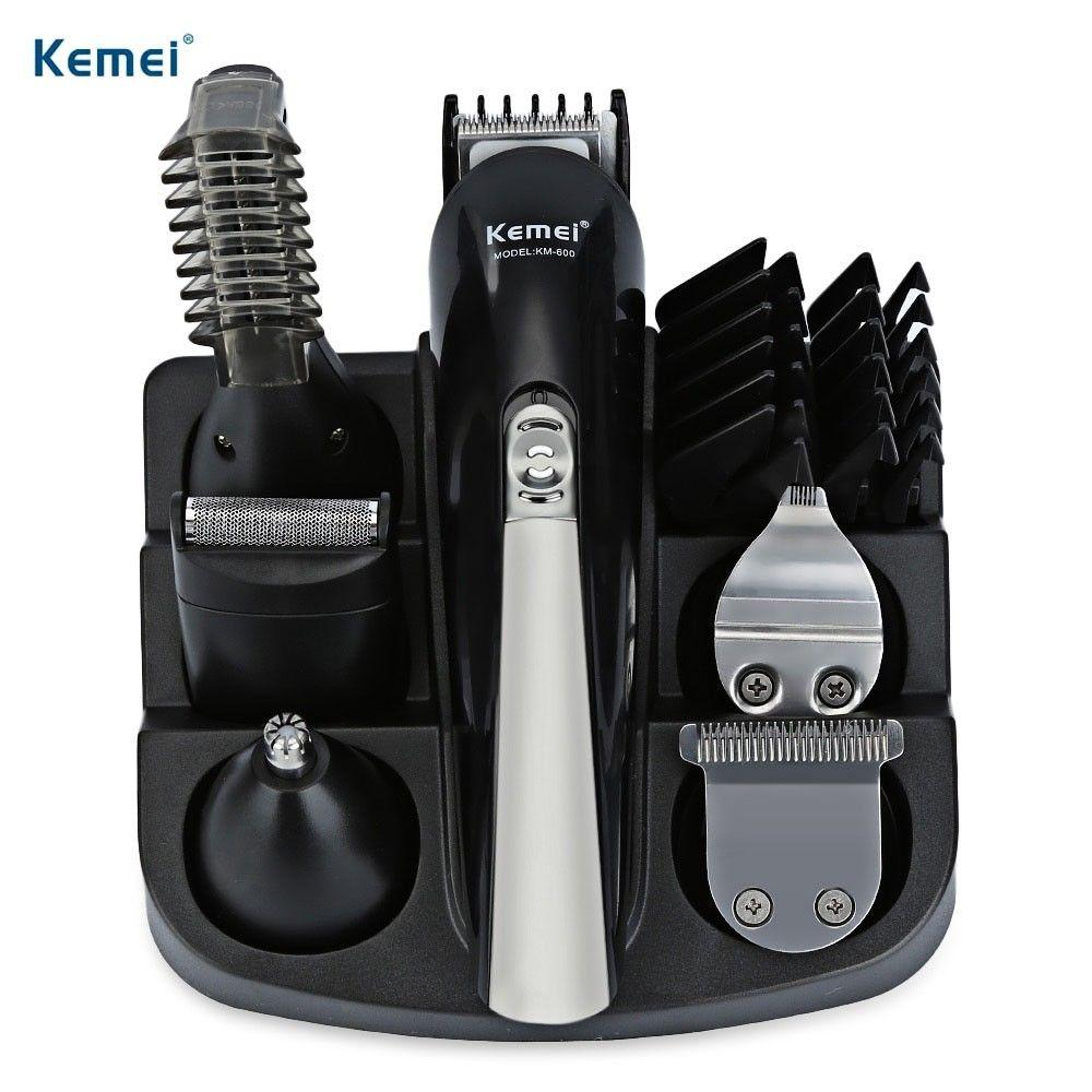 Rechargeable 6 In 1 Hair Clipper Titanium Cordless Shaver Adjustable Men Beard ElectricTrimmer Haircut Machine 4 Limit Combs 30F zKcvs