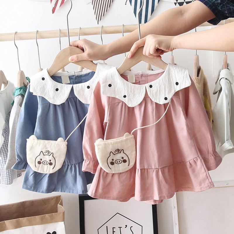 Girls Dress 2020 Spring New Western Style Children Dress Little Girl Long Sleeve Princess Dress 1-3-Year-Old Autumn
