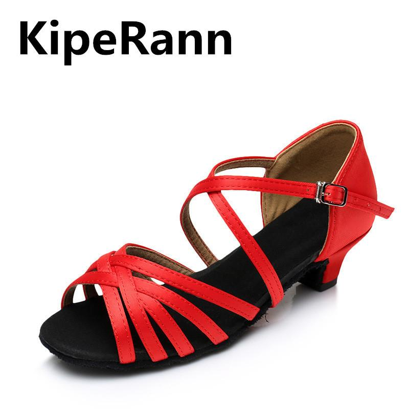 Womens Modern Tango Latin Ballroom Salsa Dance Shoes Ladies Lace Heels Size 3-11