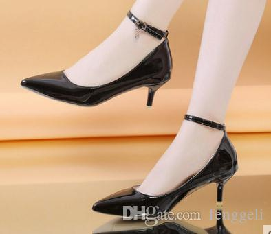 2020 zapatos de mujer en primavera y otoño con nuevo estilo del tacón alto talón fino extremo puntiagudo @ 699097